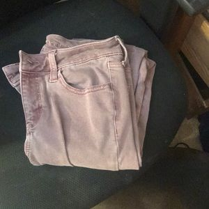 These are purple jeans